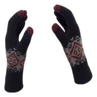 Jack Jones Jack & Jones - Gloves Touch screen Knit Women & Men - Navy Blue With Pattern Photo
