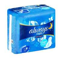 Always sanitary pads night maxi thick value packet 4 packets x 8 pads Photo