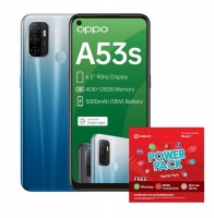 OPPO A53s 128GB Single - Fancy Blue Power Cellphone Cellphone Photo
