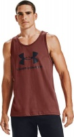 Under Armour Men's Sport style Logo Tank - Red Photo