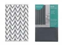 2 Shower Curtains Grey Chevron & Slate Grey Photo