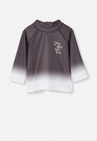 Cotton On Kid's Freddie rash vest - graphite grey ombre Photo