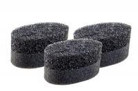 Bath Sponge Exfoliating Black - 3 Pack Photo