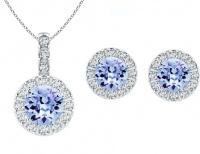 Civetta Spark Rachel Set - Swarovski Light Sapphire Crystal Photo