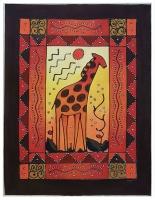 Zawadi Original wall décor fabric painting Giraffe textured design Photo