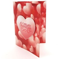 BUFFTEE Happy Valentines Day Card- Be My Valentine - Musical Led Card Photo