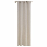 Matoc Designs Matoc Readymade Curtain 233cm Height -Self Lined Textured -Eyelet -Beige Photo