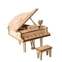 Robotime Wooden Grand Piano - 74 Pieces Photo