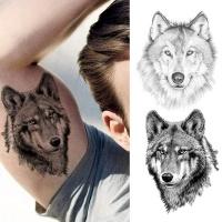 Temporary/Fake Tattoo Wolf Black 3D Realistic Photo
