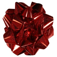 AK Christmas Wrapping - Extra Large Red Holographic Self-Adhesive Bow Photo