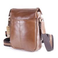 Nuvo - Adam Genuine Leather Crossbody Bag Cappuccino Tan Photo