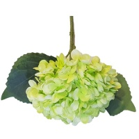 Seedleme Hydrangea 34cm Yellow Plastic Artificial Faux Silk Plants by Photo
