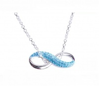 Crystalize 925 Sterling Silver Infinity Necklace with Swarovski Crystals Photo