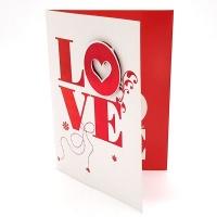 BUFFTEE Valentines Day Musical Card- L O V E Photo