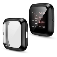Case Candy Cover with Screen Protection for Fitbit Versa 2 - Black Photo
