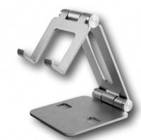 "Dmart ™ Fully Foldable Adjustable Phone Holder Tablets 7""-10"" SILVER Photo"