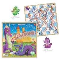 eeBoo Dragons Slips and Ladders Board Game Photo