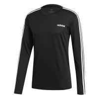 adidas - Men's Designed2Move Climalite 3-Stripe Long Sleeve - Black Photo