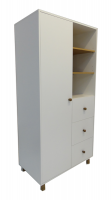 Refined Home Cloud Wardrobe White and Oak 1.7m High Photo