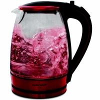 Mellerware Kettle 360 Degree Cordless Glass Red 1.8L 2200W Photo