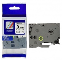 Fill The Gap FTG TZ-221 Brother Label Tape Cartridge-Laminated Black On White-Pack Of 4 Photo