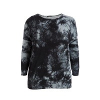 Quiz Ladies Curve Grey Tie Dye Jumper - Grey Photo