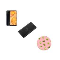 Huawei P40 Lite 128GB Midnight Black PopSocket 20000mAh Powerbank Cellphone Photo