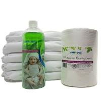 Fancypants Newborn Cloth Nappy - 10 Pack Photo