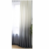 Matoc Designs Matoc Readymade Curtain 500cmWx250cmH - Ombre White to LtBlue - Lined - Taped Photo