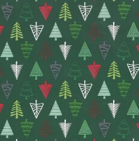 Gift Wrapping Paper 5m Roll - Christmas Trees Photo