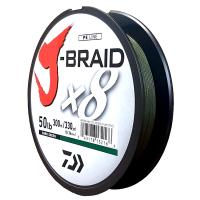 Daiwa J-Braid X8 Dark Green 50LB .36MM 300m Spool Photo