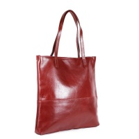 NUVO Isola Genuine Leather Shopper Handbag Red Photo