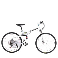 Foldable 26 Inches Mountain Bike White Color Photo