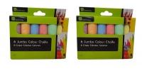 6 Jumbo Colour Chalk - Set of 2 Photo