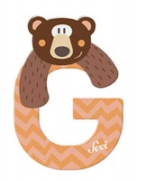 Sevi Wooden Letter G Grizzly Photo