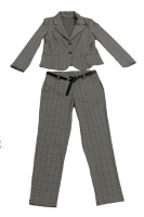 UB Creative Big Check Stretch Pants Suit Grey Photo