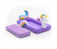 Bestway 1.96m x 1.04m x 84cm DreamChaser Airbed - Unicorn Photo