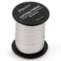 AK Christmas Wrapping - Silver Glossy Curling Ribbon - 20 Metres Photo