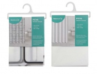 2 Shower Curtains Grey & White Photo