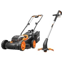 Worx - Cordless Lawn Mower & Cordless Grass Trimmer Combo Photo