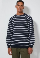 Men's Superbalist Nautical Stripe Crew Neck Knit - Navy/White Photo