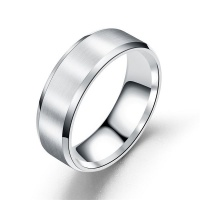 Men's Silver Stainless Steel Ring Photo