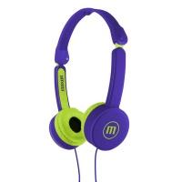 Maxell KZ-13 KIDS Small Foldable Headphones - Turquoise Photo