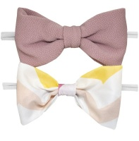 Kimble Baby Headbands Pink and White Photo