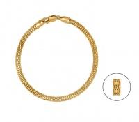 Art Jewellers - 925 Sterling Silver Fancy Mesh Bracelet - Yellow Gold Photo