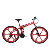 Red Coulor 21 Speed Foldable Mountain Cycling Bike Photo
