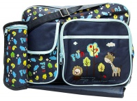 Mothers Choice Nappy Bag with Changing Mat and Bottle Holder -Small Stone Photo