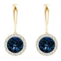 Civetta Spark Helena earring - Swarovski Montana Crystal Gold Photo