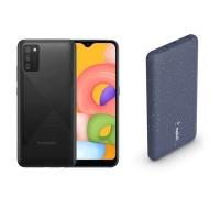 Samsung Galaxy A02s 32GB Black Belkin 10000mAh Powerbank Bundle Cellphone Photo