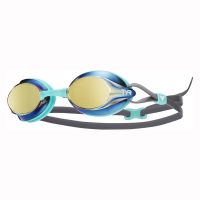 Tyr Velocity Metallized Racing Goggles - Gold/Mint Photo